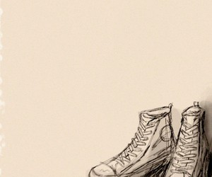 converse, drawing, and shoes image