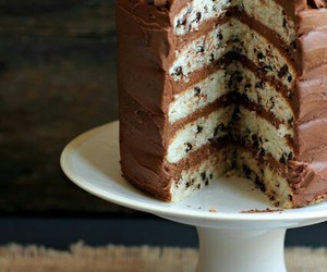 cake, chocolate, and chocolate chip image