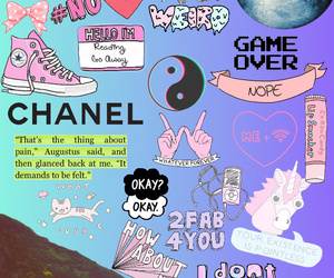 chanel, Collage, and pink image
