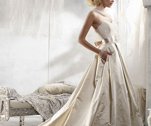 dress, wedding dress, and cute image