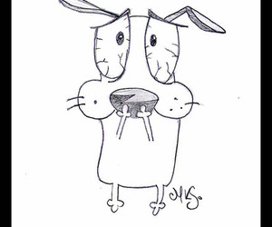 art, cartoon, and courage the cowardly dog image