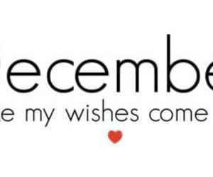 december, wish, and text image
