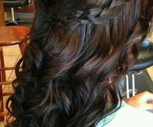 braid, curls, and hair image