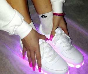 baskets, lights, and chaussures  image