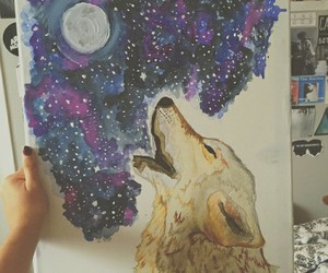 wolf and paint image