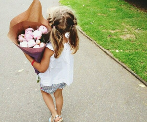 flowers, cute, and kids image