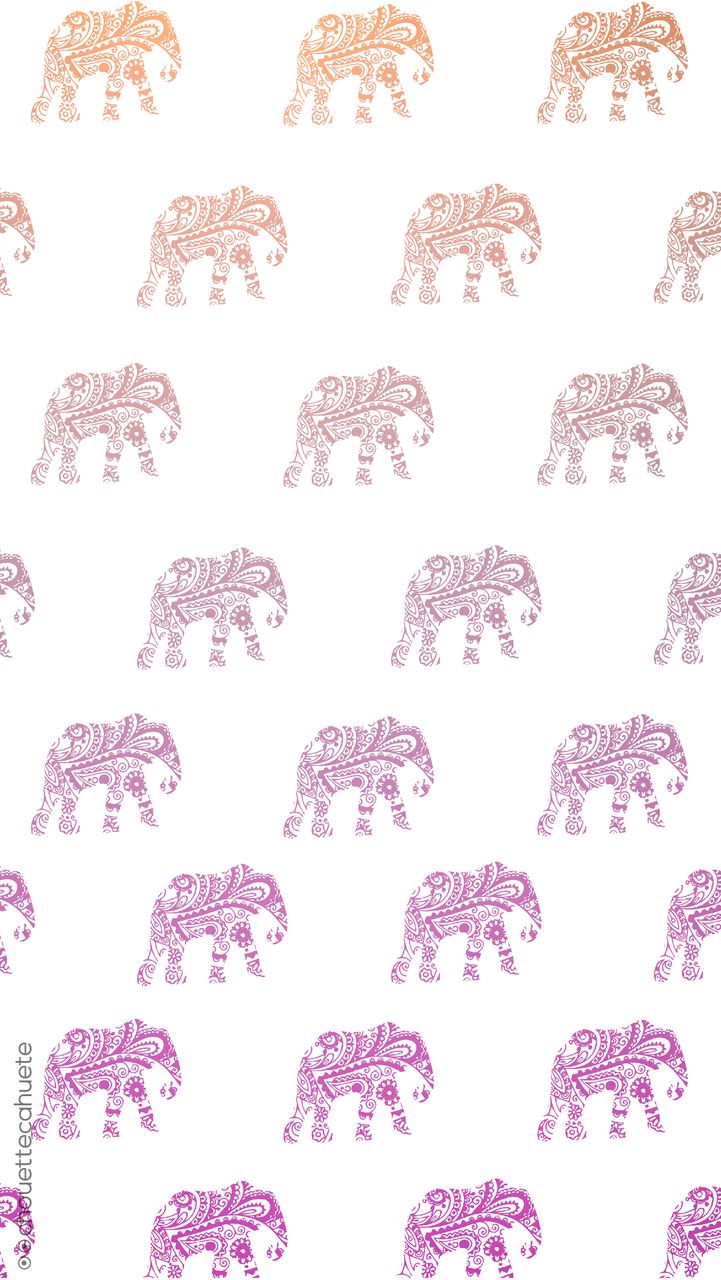 Cute Elephant Wallpaper Discovered By Coralie Perot