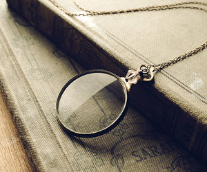 vintage, book, and monocle image