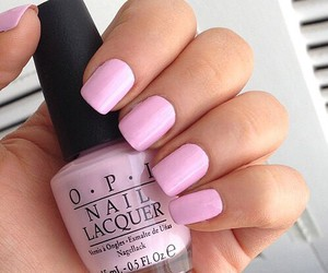 nails, pink, and opi image
