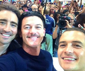 lee pace, orlando bloom, and luke evans image
