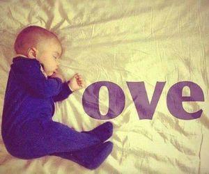 love, baby, and sleep image