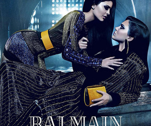 kylie jenner, kendall jenner, and Balmain image