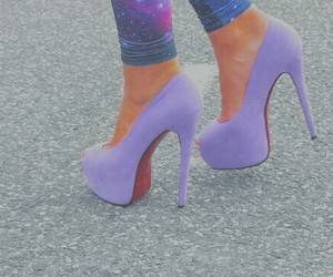 hells, lila, and shoes image