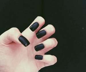 black, nails, and style image