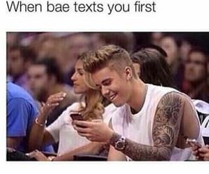 bae, text, and justin bieber image