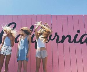 girl, california, and pink image