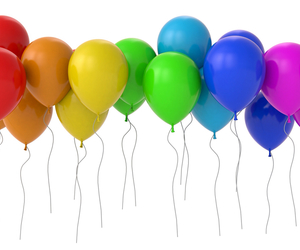 balloons, color, and rainbow image