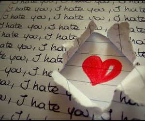 love, hate, and heart image