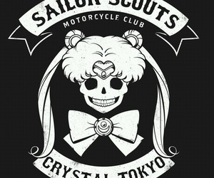 sailor moon and skull image