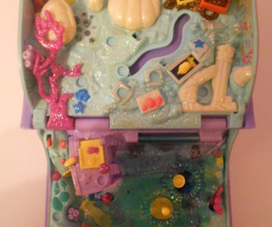 mermaids, polly pocket, and book of sea image