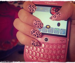 pink, nails, and blackberry image