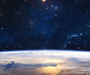 space, stars, and earth image