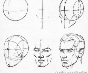 draw, men, and face image