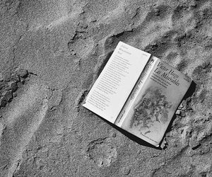 book, beach, and sand image