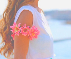 summer, flowers, and girl image