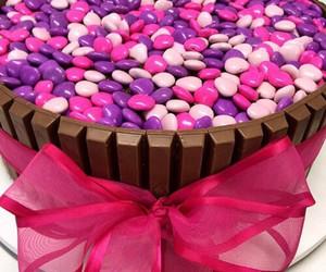 food, pink, and chocolate image