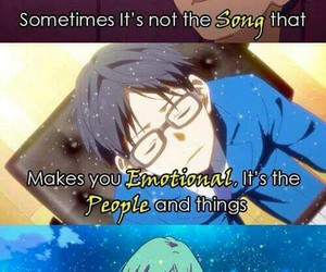 anime, quotes, and music image