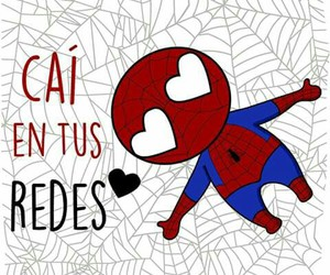 love, spiderman, and ​amor image