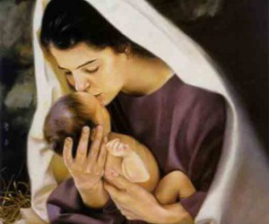 beautiful, mary, and painting image