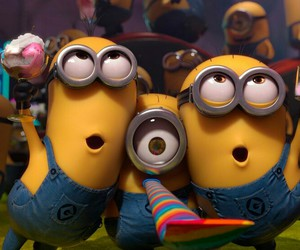 minions, party, and despicable me image