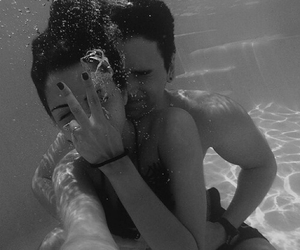 black&white, heart it, and couple image