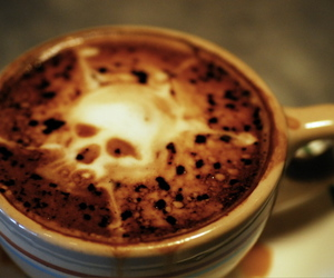 coffee, latte, and skull image