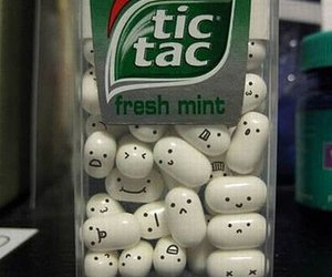 tic tac, face, and mint image