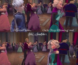 frozen, jack and elsa, and jack frost image