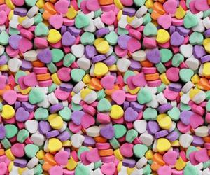 candy, hearts, and wallpaper image