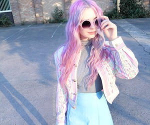 pastel, pink, and grunge image