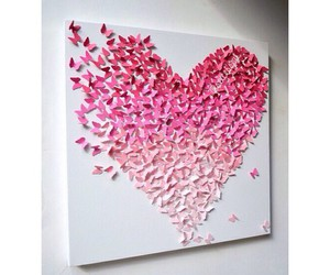 heart, art, and butterfly image