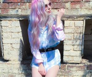 grunge, fashion, and pink hair image