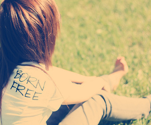 girl, free, and born free image
