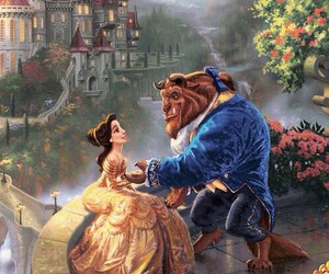 disney, beauty and the beast, and princess image