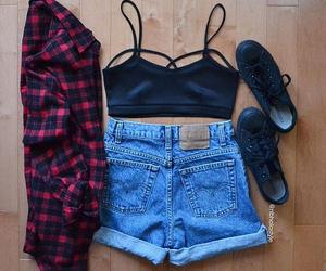 black, converse, and shorts image