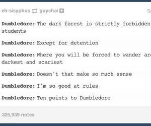 detention, dumbledore, and harry potter image