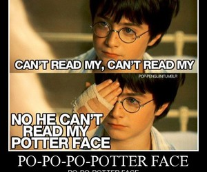 harry potter, poker face, and potter face image