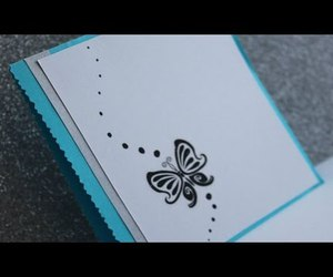 blue, butterfly, and card image