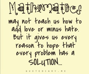 solution, quote, and math image