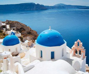 blue, sea, and Greece image